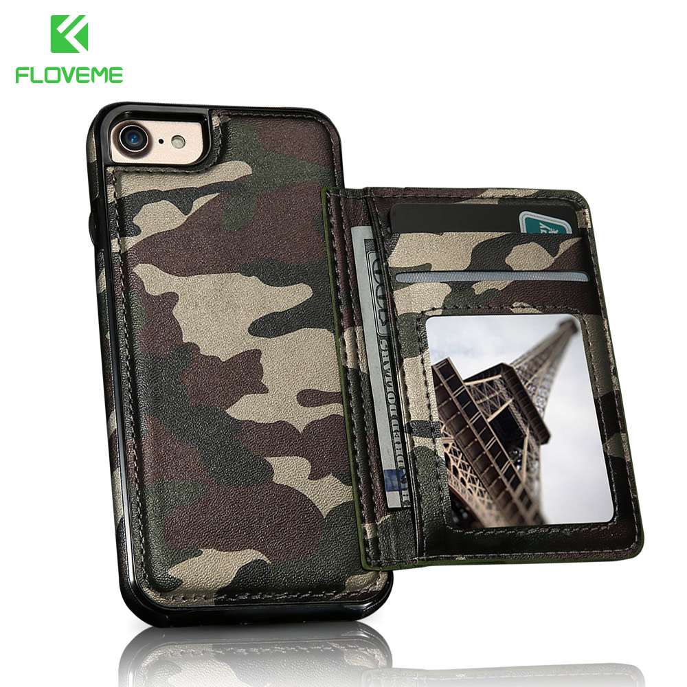 FLOVEME Phone Case For iPhone 6 6S 7 8 Plus Camouflage