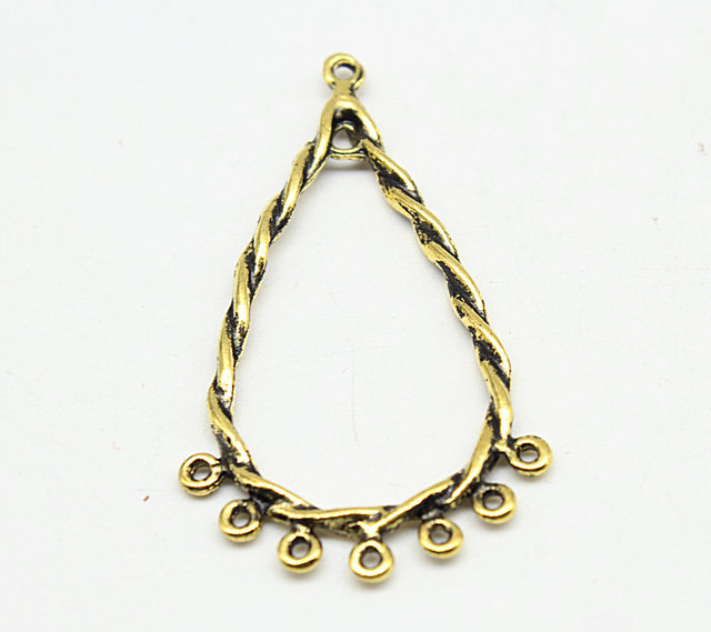 100pcs antique gold drop shape chandelier charm pendant for 100pcs antique gold drop shape chandelier charm pendant for earringsdiy jewelry making filigree chandelier mozeypictures Gallery