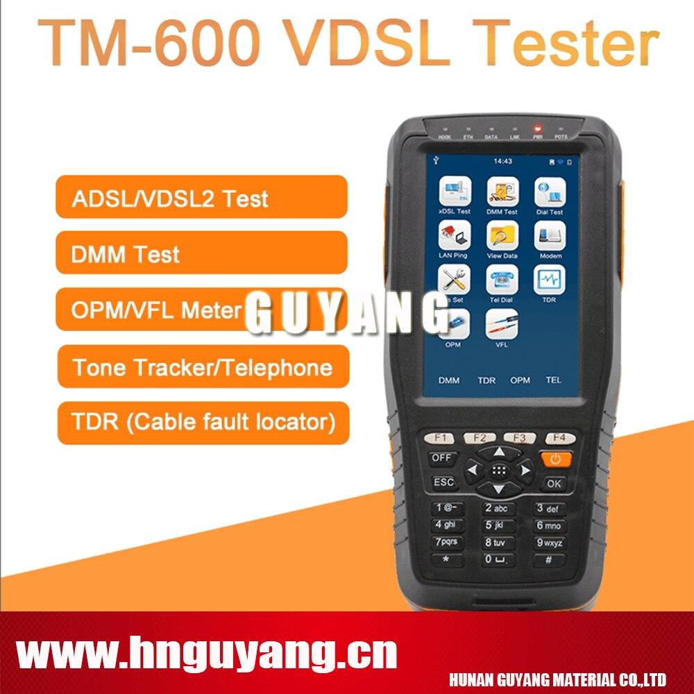 GUYANG TM-600 VDSL VDSL2 Testeur ADSL WAN et LAN Testeur xDSL Ligne Équipement D'essai TM600