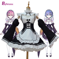 Bybrana Anime Halloween Party Costumes Ram Re Zero Cosplay Rem Anime Costume For Women