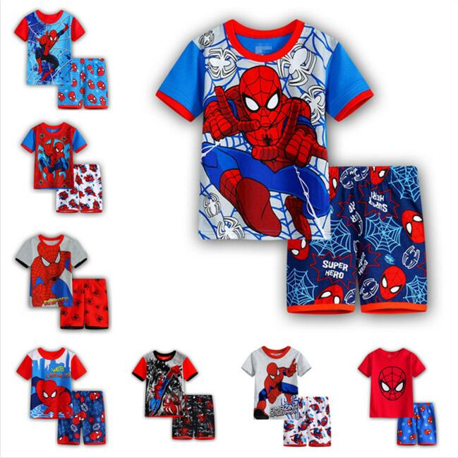 Summer Spiderman Tshirt T-shirt Clothes For Boy Kids Spider man Clothes For Children Spiderman T shirt Tracksuit Set Tshirt Sets женская футболка other 2015 3d loose batwing harajuku tshirt t a50