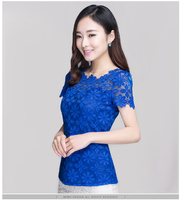 Women S Short Sleeved Lace Primer Shirt Spring 2014 Summer New Korean Version Of The Influx