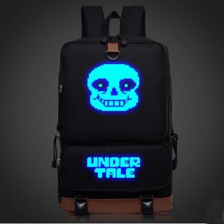 Anime Undertale Backpack Anime Canvas Student Schoolbag Unisex Travel Bags