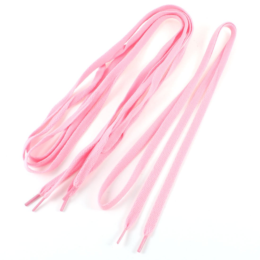 37e3a4fec50 2 Pairs StyleWoman Pink Flat Shoelaces Trainer Sport Boot Shoe Laces ...