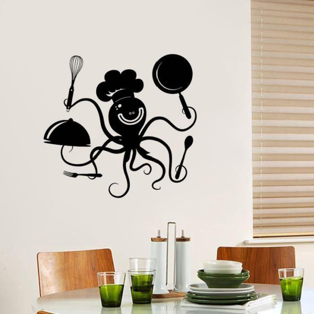 Wall Kitchen Octopus Sticker Home Decoration Sticker Wall Sticker Decal Home Decor Decal Paste 27cm * 32cm Стикер