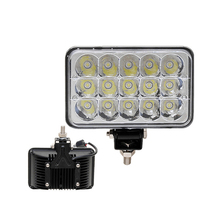 ECAHAYAKU 2cs 7Inch 45W Square LED Car Work Light 12V 24V Spot For 4WD 4x4 Offroad ATV Truck Tractor Boat Motorcycle Fog Lights