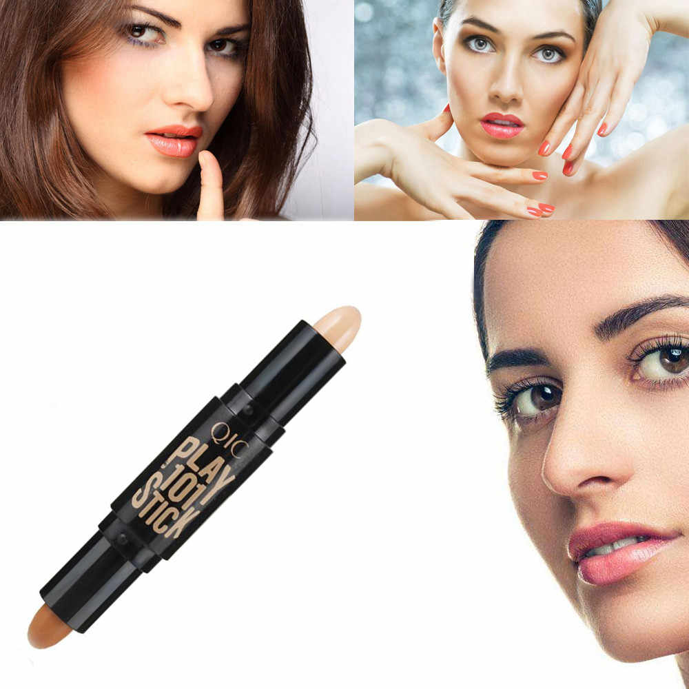 Correcteur de maquillage Double extrémité 2 In1 Base fond de teint Contour Stick cosmétiques correcteur maquillage visage outil de beauté # YL5