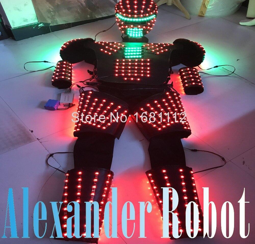 LED Costume robot/vêtements de LED/costumes légers/costumes Robot LED/robot Kryoman/robot alexander