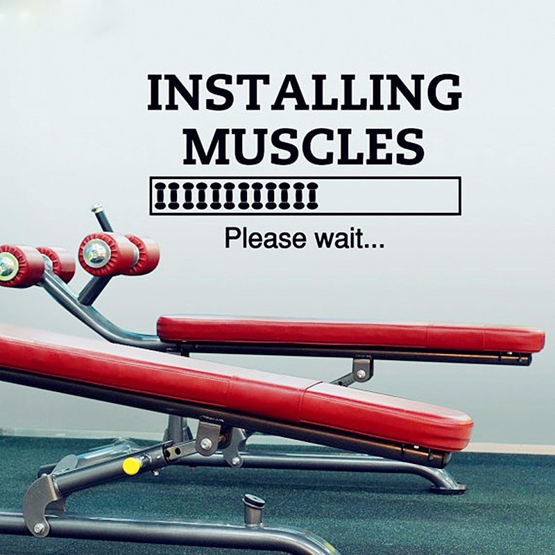 buy 3d gym wall sticker and get free shipping on aliexpress
