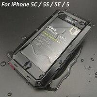 For Iphone 5c Aluminum Case Doom Armor Dirt Shock Waterproof Metal Cases For IPhone SE 5