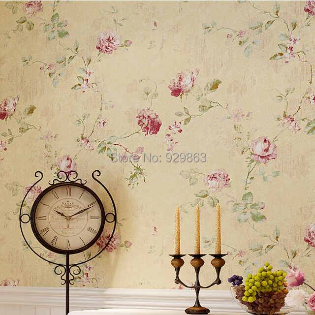 American country style wallpaper rolls papel de parede vines flower mural wall paper vintage pastoral wall