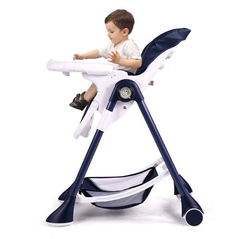Bolsa de bebé impulso asientos Multi-funcional bebé niño comer mesa de comedor silla alta de bebé plegable silla