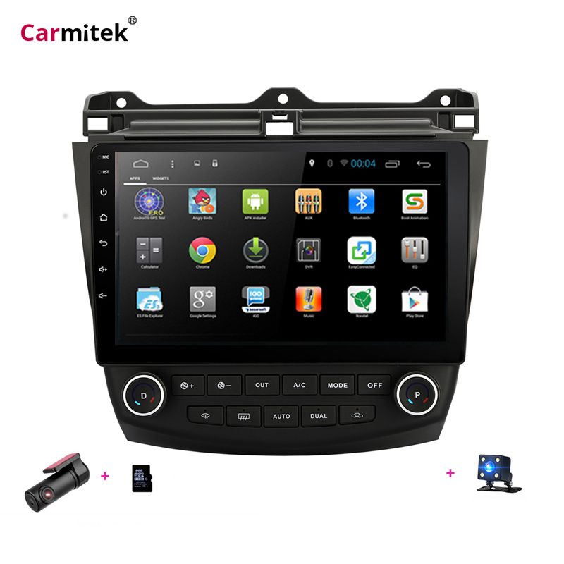 7 8 Android navegação do carro dvd gps para Honda Accord 2003-2007 toque screern player Navi Multimedia Navigator Stereo unidade central