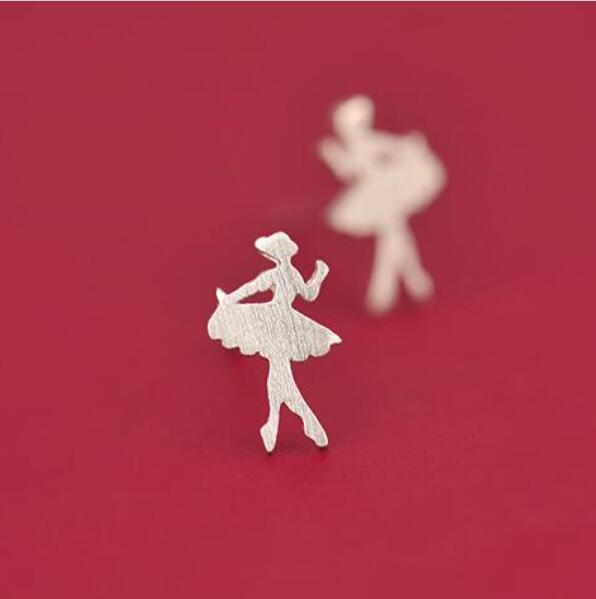 Jisensp Women Earings Cute Ballet Girl Earrings for Girls pendientes Fashion Jewelry Brincos Trend Statement Earrings Accessorie
