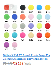 20 Sets KAM T5 12MM Round Plastic Snaps Button Fasteners Quilt Cover Sheet Button Garment Accessories For Baby Clothes Clips