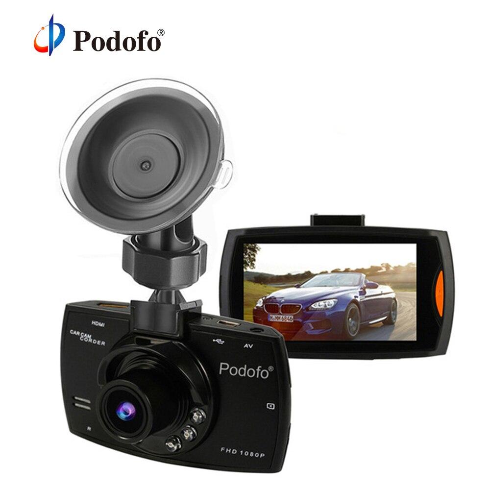 Original Podofo A2 coche DVR Cámara G30 Full HD 1080 P 140 grado Video Dashcam registradores para coches de visión nocturna g-Sensor Dash Cam