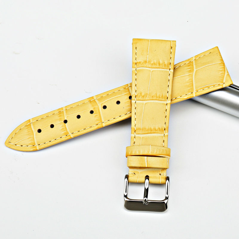 MAIKES New design watchband watch accessories yellow or gold color watch band 12mm-22mm watch strap case for  Casio