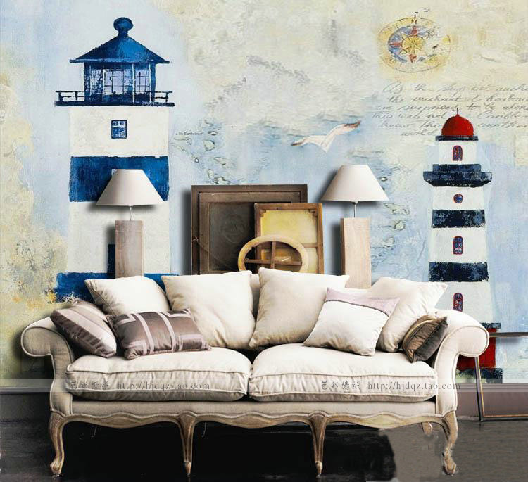 Online buy wholesale lighthouse wall murals from china for Cn mural designs
