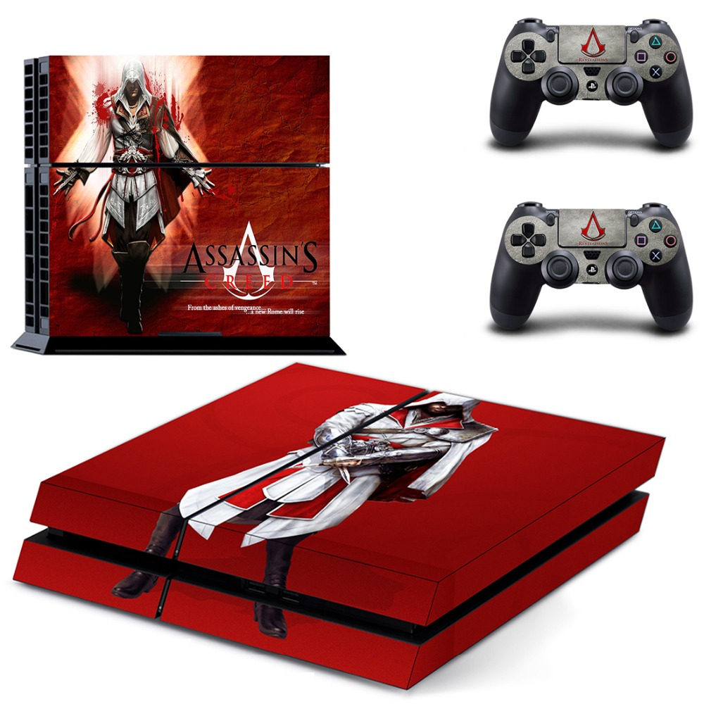 Game Assassins Creed PS 4 Sticker PS4 Skin for Sony PS4 PlayStation 4 and 2 controller skins