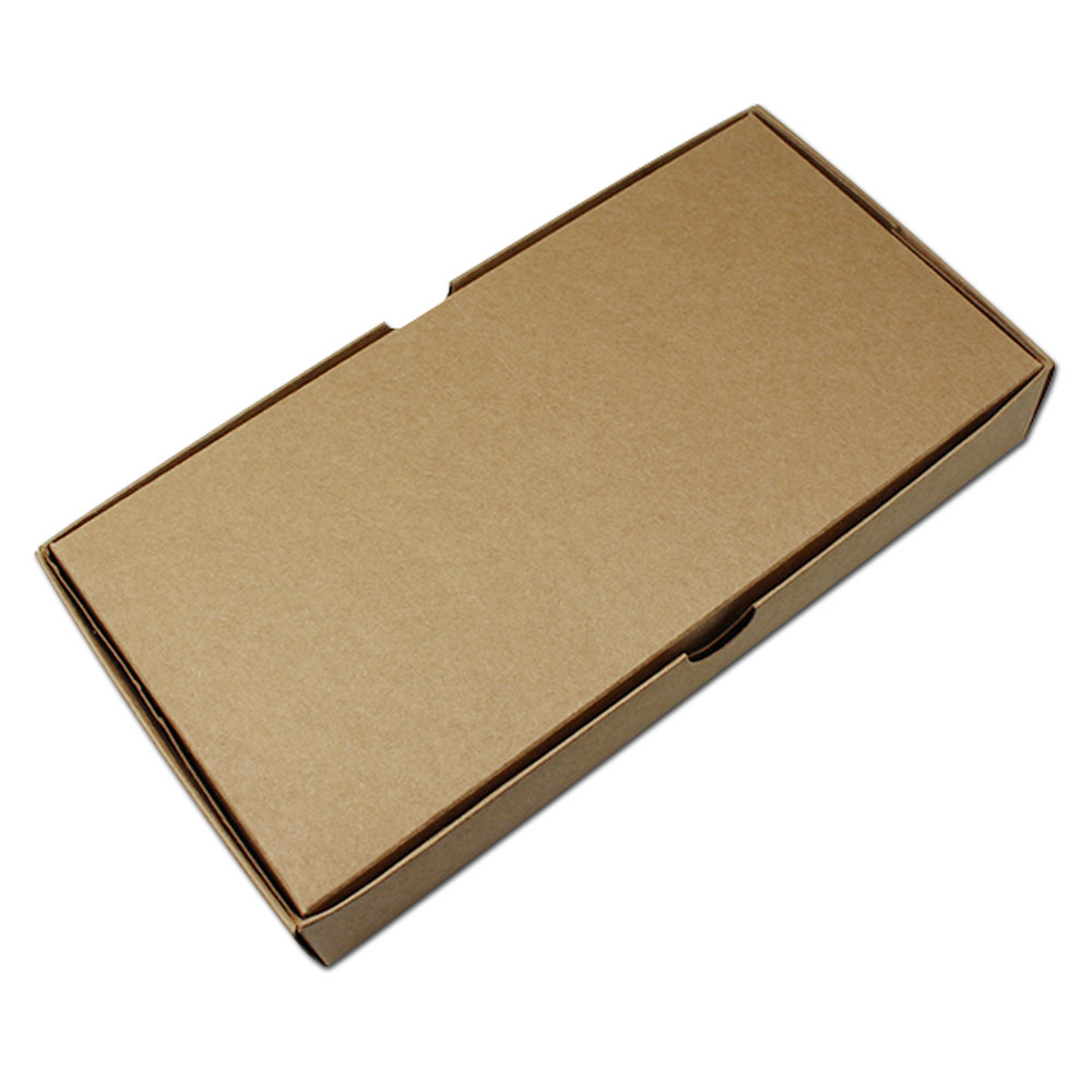 5pcs Blank Brown Kraft Paper Cardboard Box with Lid Cover Vintage Scarf Gift Sock Clothes Packaging Folding Carton 22*11.2+3.5cm