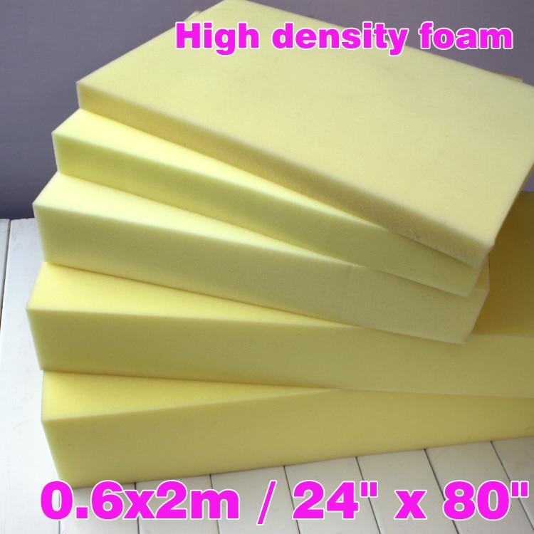 Сменный Поролоновый лист для сиденья/подкладка, поролоновая подушка для обивки, губка высокой плотности 24 дюйма, ширина x 80 дюймов, длина 60x200...