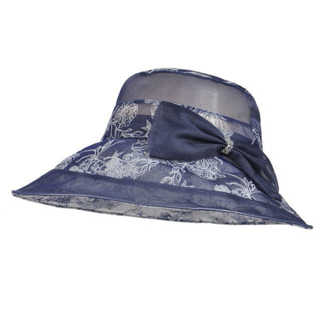 3e2625039cdd5 Kenmont Korean Women Fashion Sun Protection ladies Wide Brim Beach Silk  Bucket Casual Anti-Uv Hat And Caps W-3039