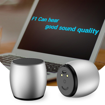 F1 Bluetooth Speaker 2pcs Portable Mini Couple Metal Speakers 3D Stereo Computer Subwoofer Loudspeaker Player for iPhone Xiaom