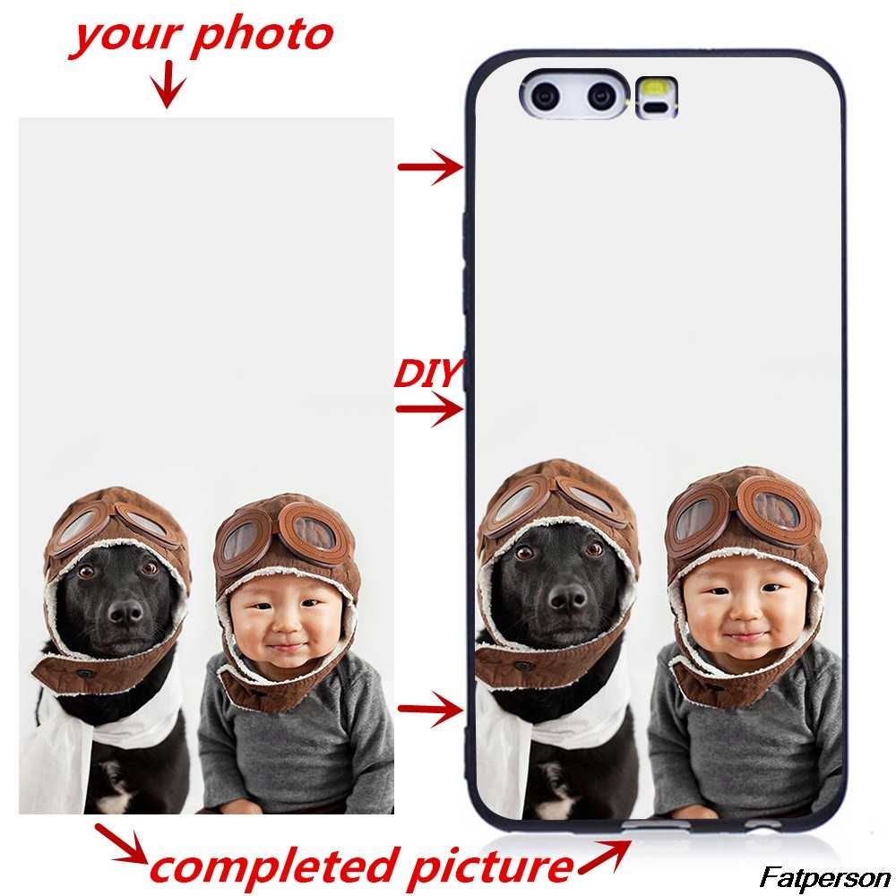 Photo Picture Print Custom Phone Cases For Huawei P9 P10 P20 P30Lite P8Lite 2018  Case Cover DIY Silicone Matte Soft Back Cover