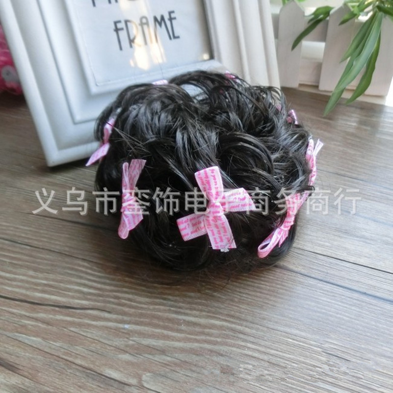 2017 Wig Hair Bow Tie Ponytail Holders Plaits Hair Circle Manual Twist Rubber Band Headband Headwear Hot Sale Fashion Hairpieces