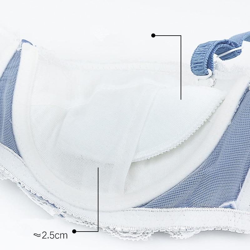 2018 Push Up Half Cup Sexy Lingerie Bra Adjusted straps Underwear Summer Seamless Lace Underwire Bra New Breast AD0459 in Bras from Underwear Sleepwears