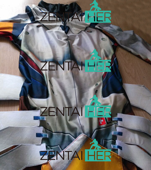 ZentaiHero 3D Басып шығару Mercy Costume Armored W Strips - Костюмдер - фото 2