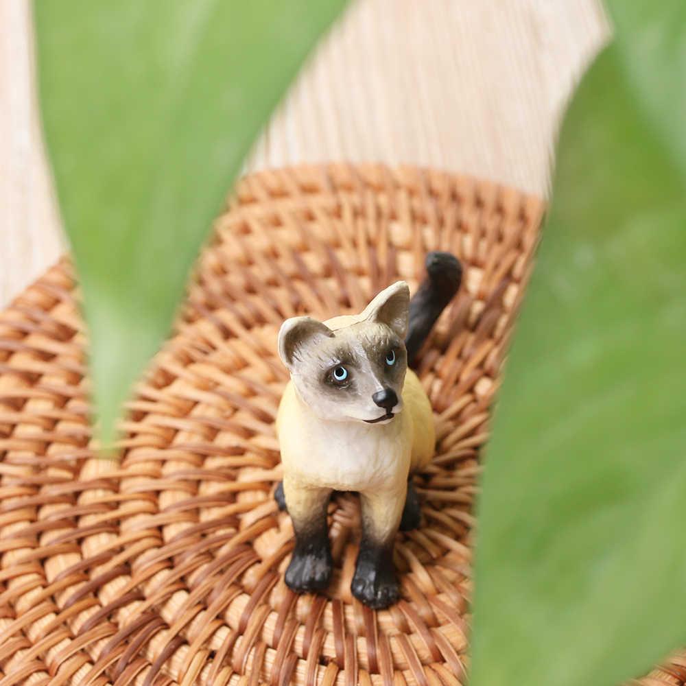 1 pcs Mini Modelo Animal de Estimação Brinquedo De Plástico Jardim de Fadas Boneca Neko Estatueta Em Miniatura Gato Animal Simulação DIY Presente Decoração Da Casa