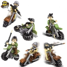 6pcs/set Figures Building Blocks Sets china brand SX2005 ghost motorcycle knight compatible with Lego