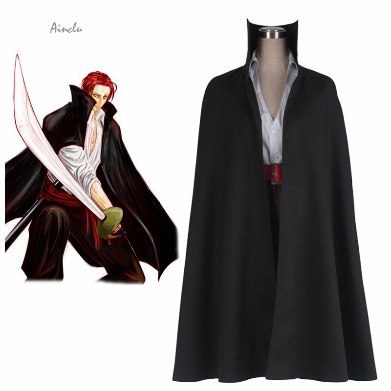 "Ainclu Free Shipping Anime One Piece ""RedHaired"" Shanks Two Years Ago Adult Kid Cosplay Costume Customize for plus size adults"
