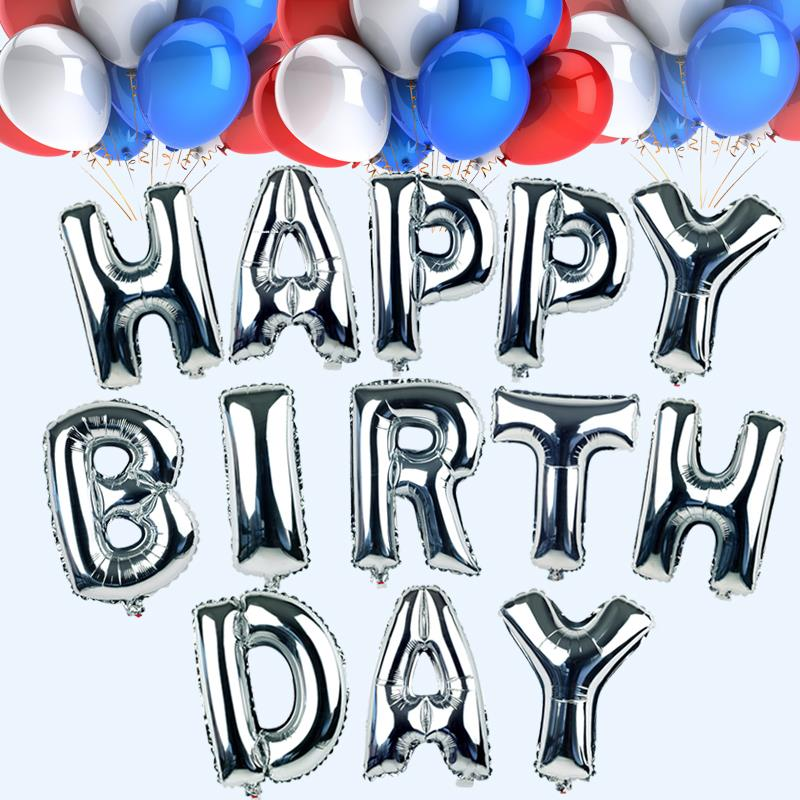 cute goldsilver alphabet letters balloons happy birthday party decoration aluminum foil membrane ballon wholesales
