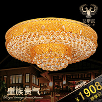 2017 Real Top Fashion Abajur Led Ceiling Lights For Living Room Luxury Quality Bedroom Crystal Lamp