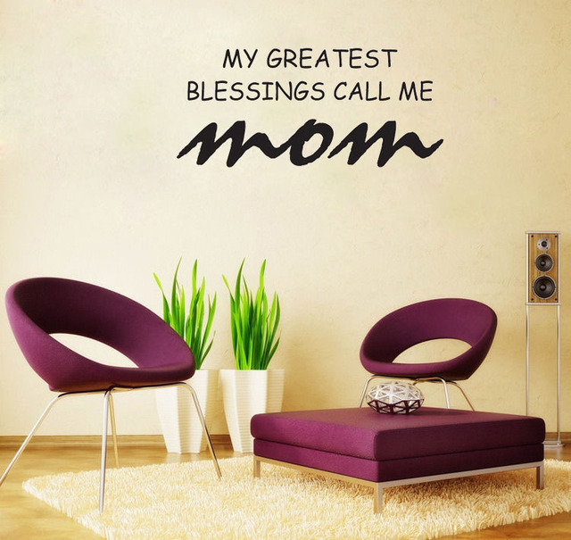 My Greatest Blessings Call Me Mom Home Decoration Wall Art Decals Quote Living Room Decorative Sticker