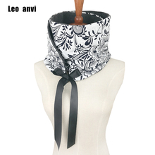 2018 new fashion Large Floral Print scarf Bow tie tube loop Ring scarf woman Infinity scarves art lady scarves