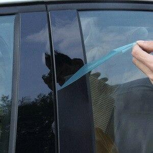 Image 4 - 8 ピース/セット BC 柱カバードア車の窓黒トリムストリップ PC プラスチックマツダ 3 2006 2008 2012 車の窓トリムストリップ