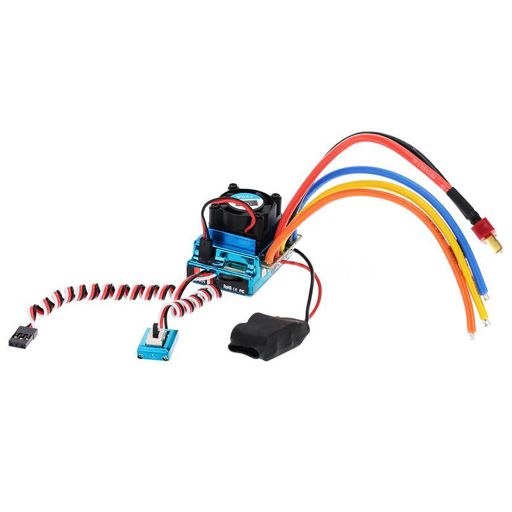 ABWE 120A Sensored Brushless Speed Controller ESC for RC 1/8 1/10 1/12 Car Crawler sensorless 35a brushless esc electric speed controller for rc car racing set ft