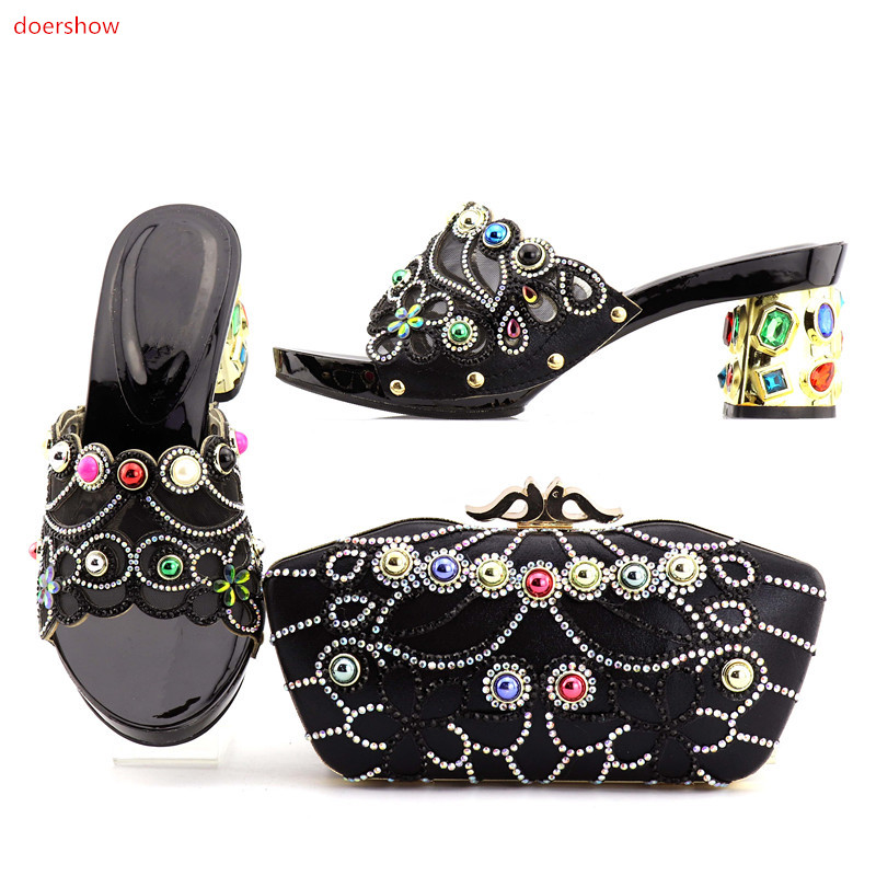doershow good Looking African Women Matching Italian Shoe and Bag Set Italian Shoe with Matching Bag for Wedding DA1-5doershow good Looking African Women Matching Italian Shoe and Bag Set Italian Shoe with Matching Bag for Wedding DA1-5