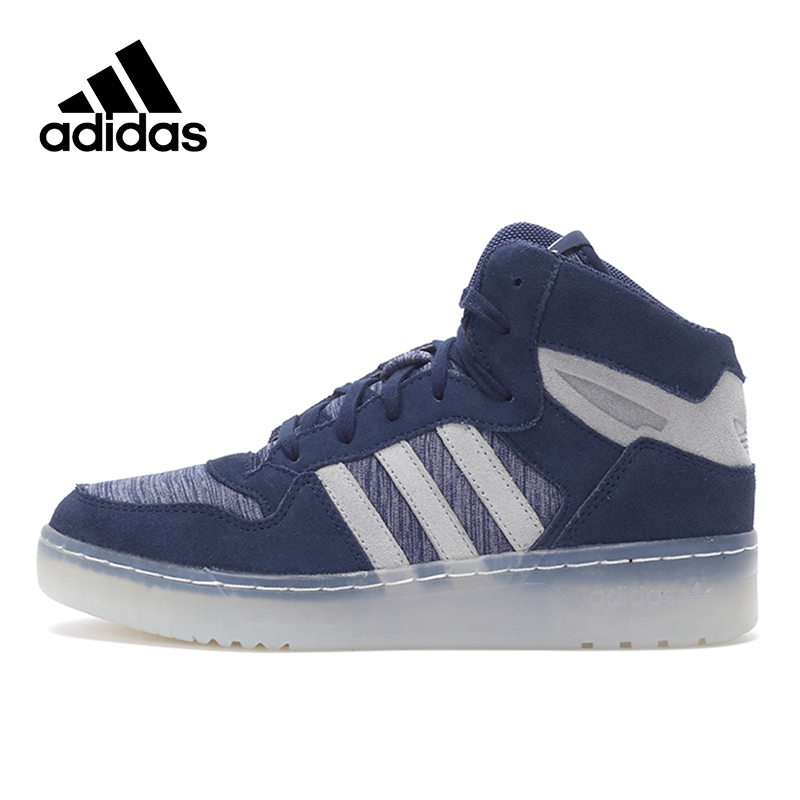 Original New Arrival Official Adidas Originals Women's High Top Skateboarding Shoes Sneakers цена