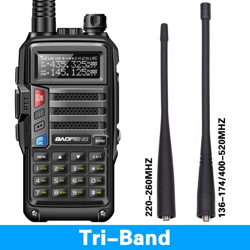 BaoFeng UV S9 8 Watt Powerful Tri Band 136 174 220 260 400 520Mhz 2xAntenna Amateur