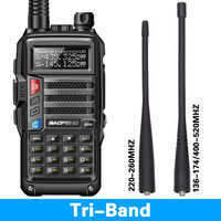 BaoFeng UV-S9 8 Watt Powerful Tri-Band 136-174/220-260/400-520Mhz 2xAntenna Amateur Handheld ham Two Way Radio Walkie Talkie