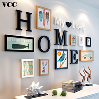 Wood Pictures Frames For Wall Hanging Picture Frame With Letters Wall Art Wedding Couple Recommendation Photo Frame Home Decor