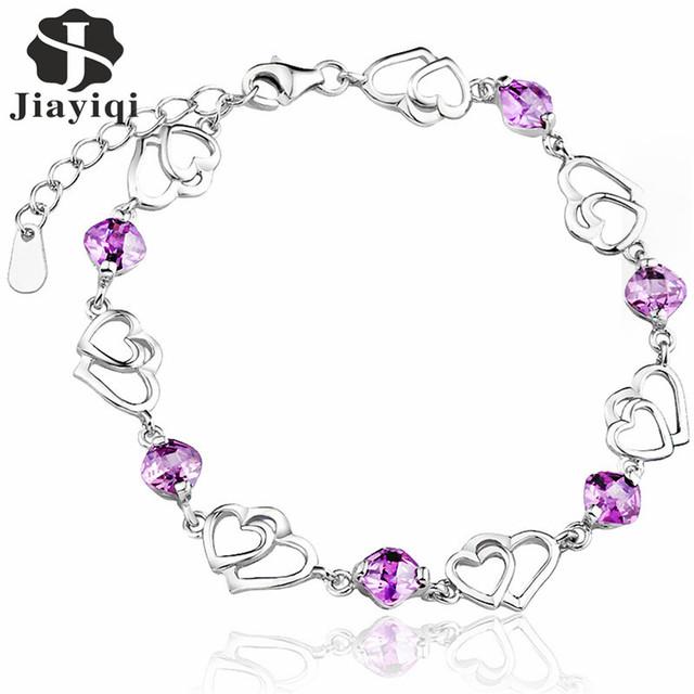 Cubic Zircon Purple Crystal Bracelet