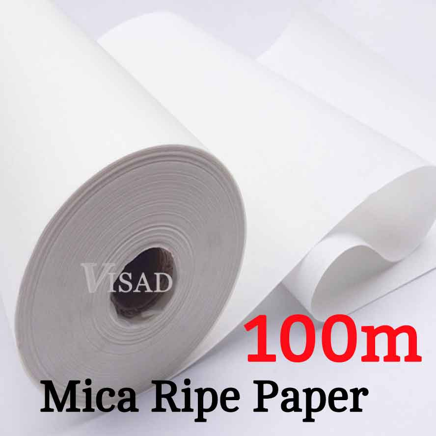 100m Mica Ripe Rice Paper Roll Chinese non-absorbent Painting Calligraphy paper Artist Painting supplies top chinese hemp paper hand made traditional rice paper for painting calligraphy artist supplies