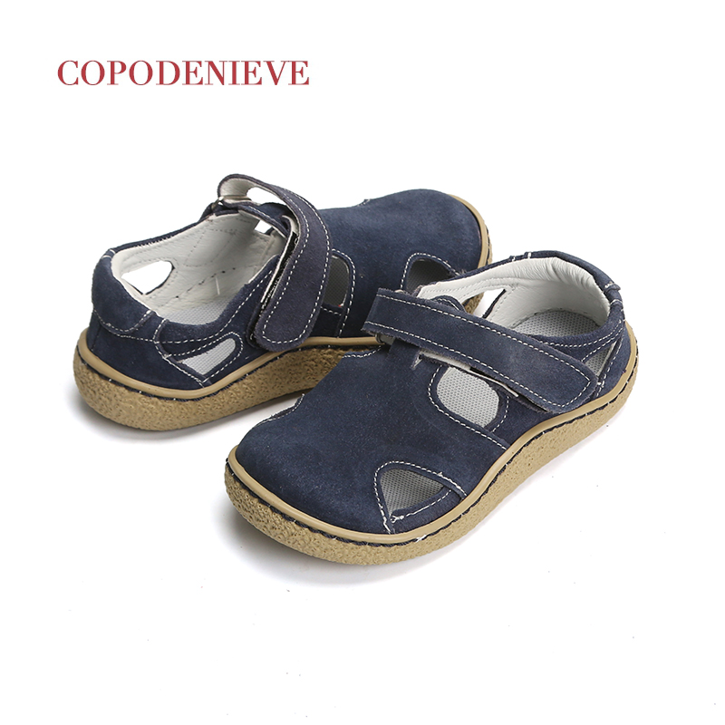 COPODENIEVE baby boy sandals boys toddler  children sandal girl shoes girls genuine leather