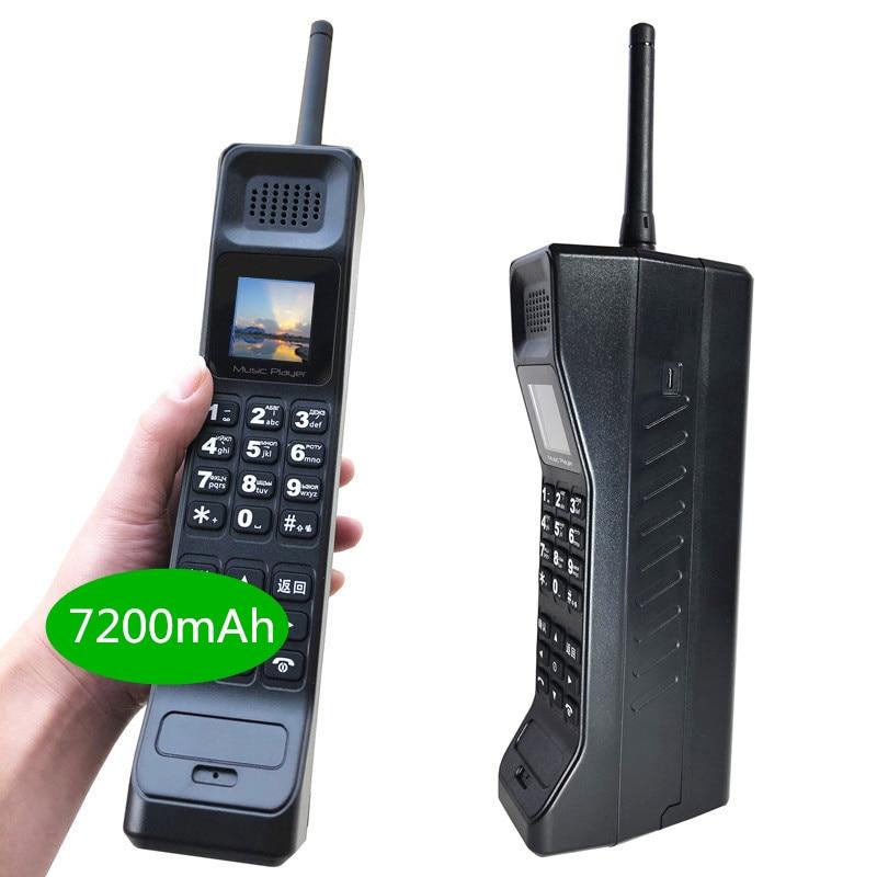 2019 nouveau réel 7200 mAh Powerbank Super grand téléphone Mobile de luxe rétro téléphone fort son lecteur de musique en veille double SIM lourd