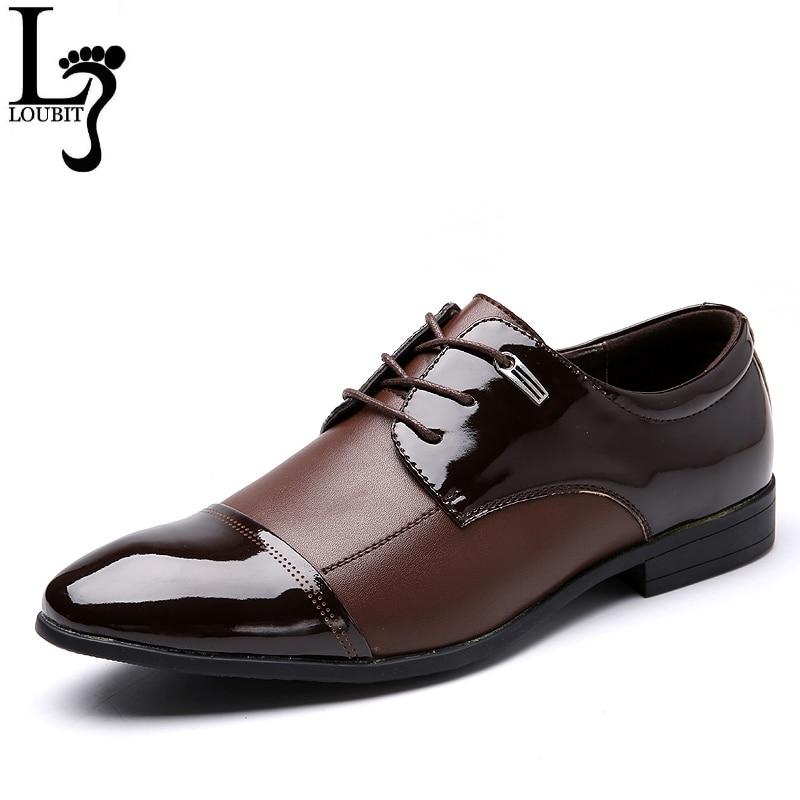 Men Business Oxfords Fashion Design Leather Shoes Lace-Up Men's Moccasins Big Size Men Dress Office Shose Euro size 38-47
